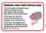 Affiche vidéosurveillance cnil